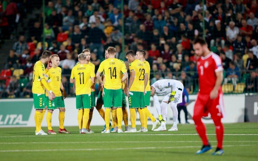 Lietuvos rinktinės futbolininkai po pralaimėjimo apgailestavo dėl paleisto šanso
