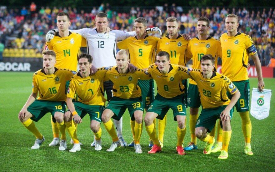 FIFA reitinge Lietuvos futbolo rinktinė smunka vis žemyn