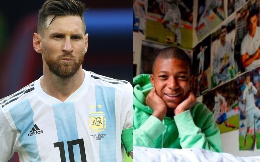 Lionelis Messi ir Kylianas Mbappe