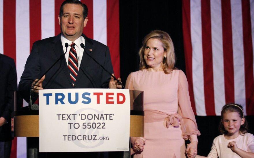 Tedas Cruzas su žmona Heidi