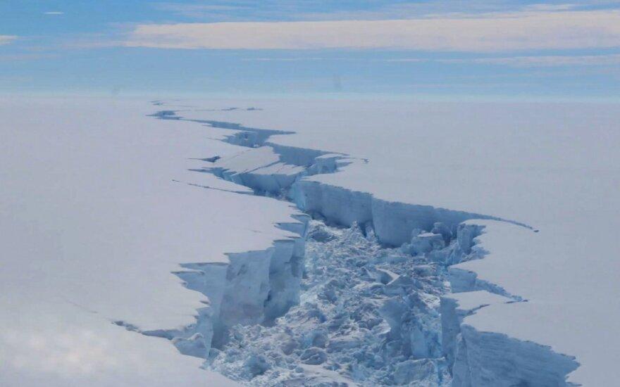 Didžiulis ledynas atitrūko nuo Larseno ledo šelfo