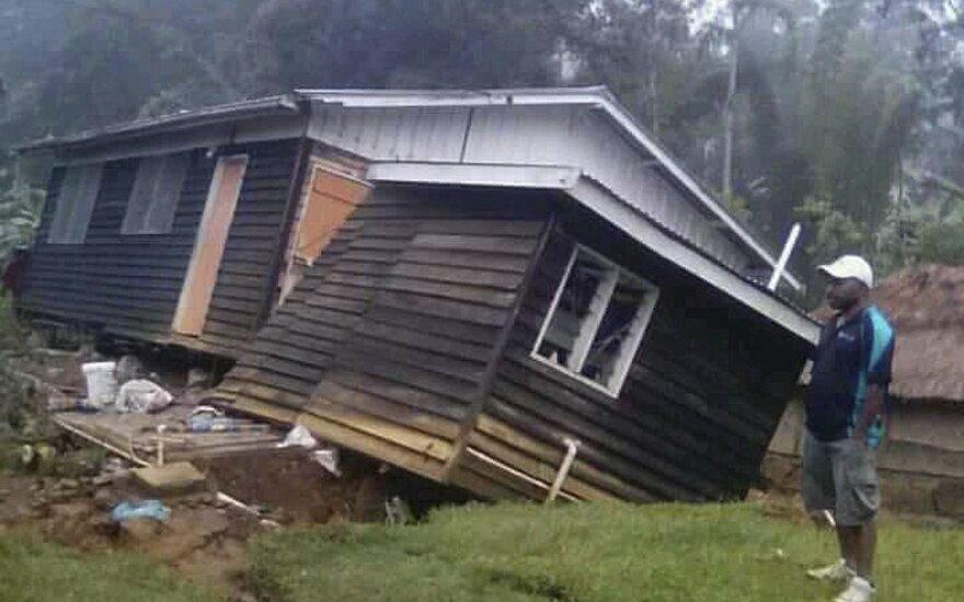 Žemės drebėjimas smogė Papua Naujajai Gvinėjai