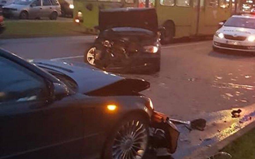 BMW avarija Pramonės pr.