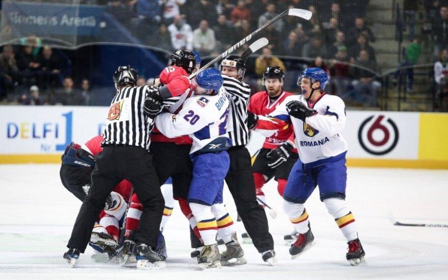 Pasaulio ledo ritulio čempionatas. Rumunija  – Lietuva
