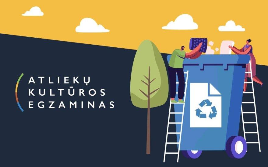 """Startuoja """"Atliekų kultūros"""" egzaminas: kviečia pasitikrinti, kiek žinote apie rūšiavimą ir atsakingą vartojimą"""