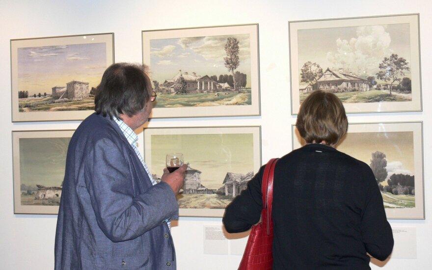 Kvietimas į architekto Arūno Paslaičio piešinių parodą Lietuvos Nacionaliniame muziejuje