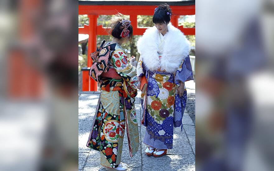 Japonijos merginos pažymi Pilnametystės dieną