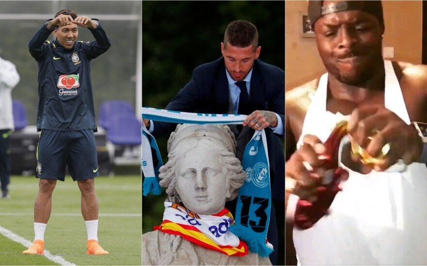 Roberto Firmino, Sergio Ramosas, Adebayo Akinfenwa