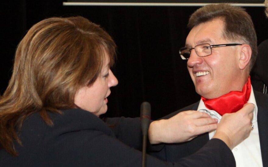 Vilija Blinkevičiūtė ir Algirdas Butkevičius