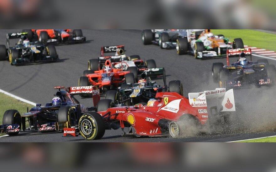 """""""Formulės-1"""" automobilių lenktynės Suzuka trasoje"""