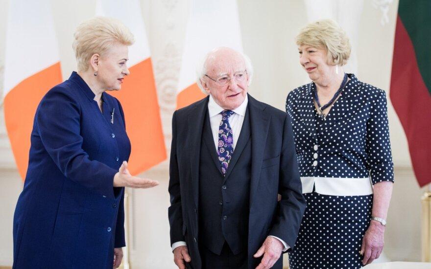 Dalia Grybauskaitė, Michaelas D. Higginsas, Sabina Coyne