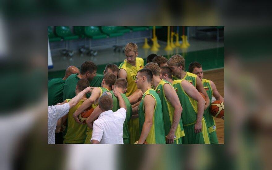 Lietuvos krepšininkų treniruotė Kaune
