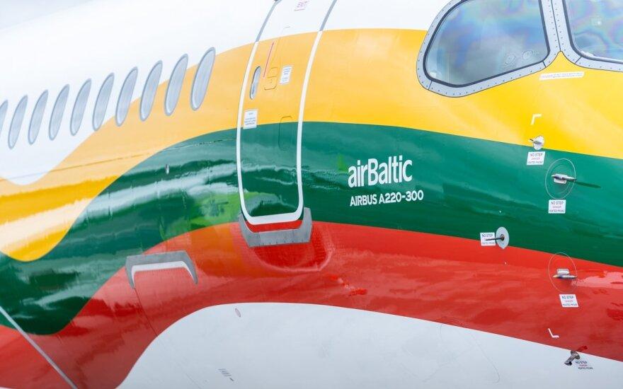 AirBaltic lėktuvas Vilnius