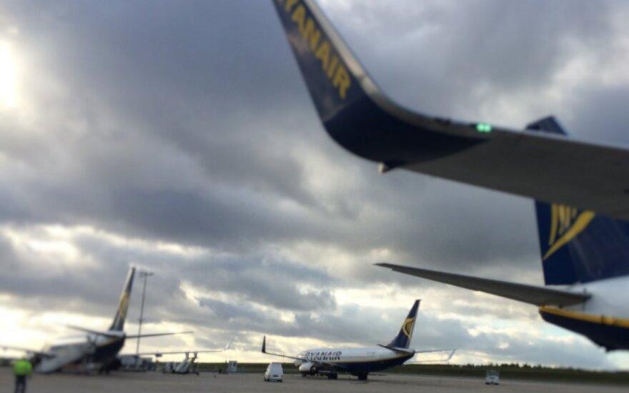 """<div>Dar vienas """"Ryanair"""" lėktuvas nepakilo iš Kauno oro uosto</div>"""