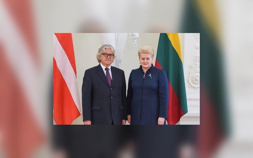 Ambassador of the Kingdom of Denmark, Dan E. Frederiksen, and President Dalia Grybauskaitė