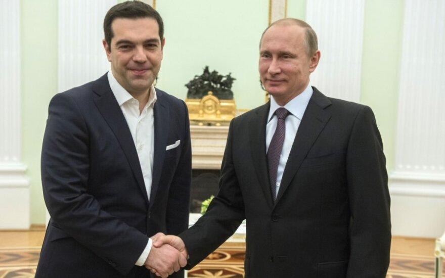 Alexis Tsipras and Vladimir Putin