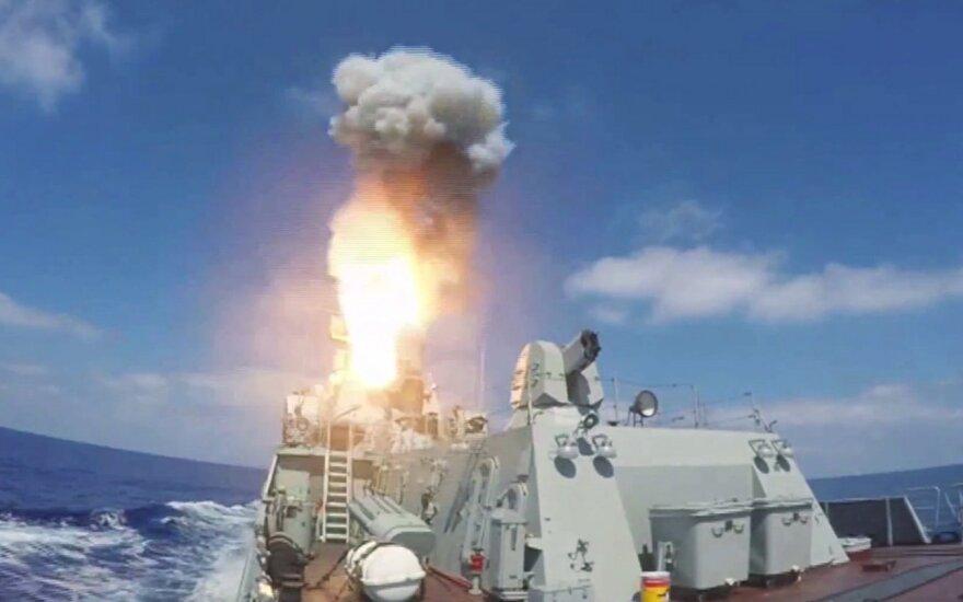 Rusijos karo laivai Viduržemio jūroje atakavo taikinius Sirijoje sparnuotosiomis raketomis