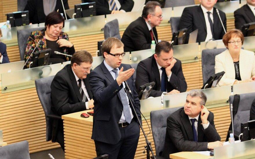 Vytautas Gapšys at the Seimas