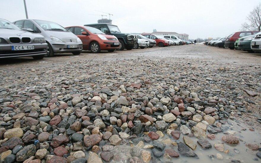 Automobilių aikštelė prie Seimo