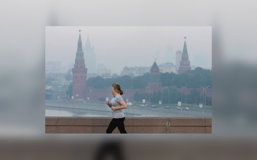 Maskvą dengia degančių durpių dūmai