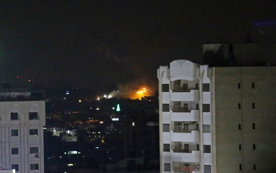Izraelis vėl surengė antskrydžius Gazos Ruože