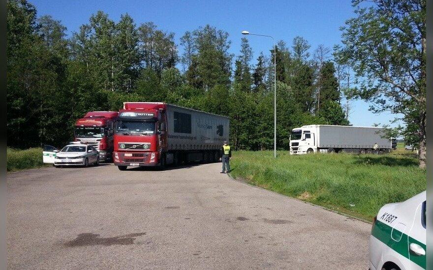 Per Kelių policijos reidą įkliuvo girti sunkvežimių vairuotojai: lietuvis, latvis, lenkas ir rumunas