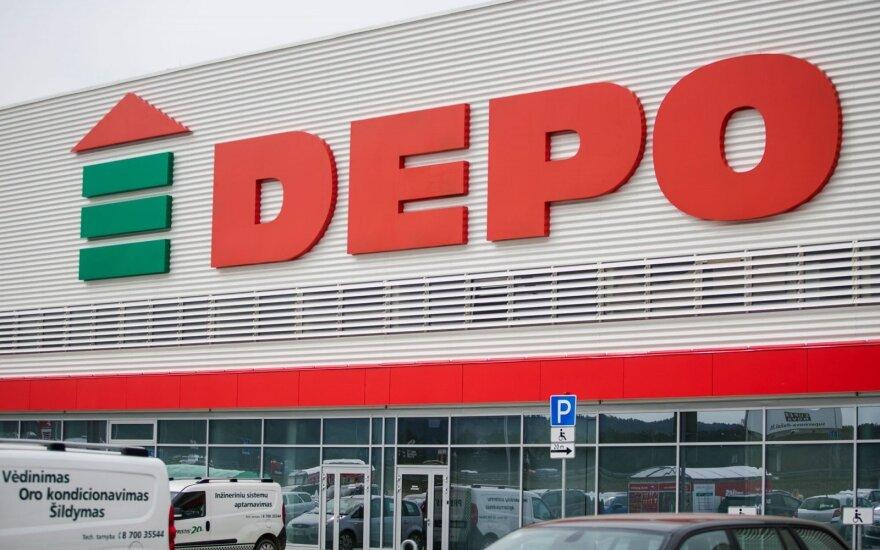 """Latvijos """"Depo DIY"""" apyvarta pernai augo 7,7 proc."""