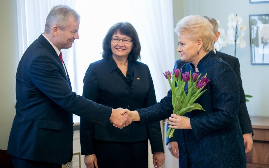 Mindaugas Bastys with president Dalia Grybauskaitė on March 8, 2017