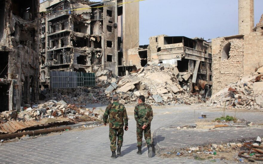Rusija paskelbė Sirijos Alepo mieste 48 valandų ugnies nutraukimą