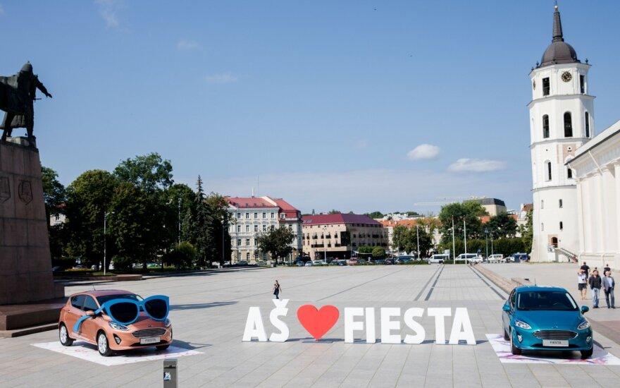 """Ford Fiesta"" pristatymas Katedros aikštėje Vilniuje"