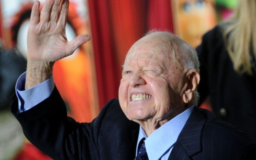 Mirė Holivudo aktorius legenda Mickey Rooney