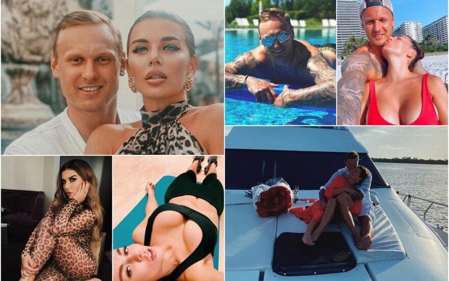 """Janis Timma ir Ana Sedokova / FOTO: """"Instagram"""" Ana Sedokova"""