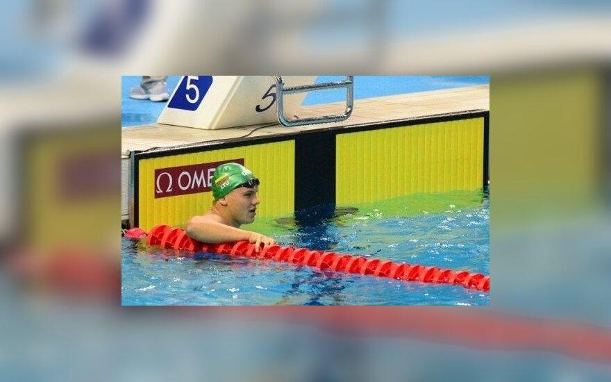 Jaunimo žaidynėse plaukikas P. Strazdas užėmė vienuoliktą vietą