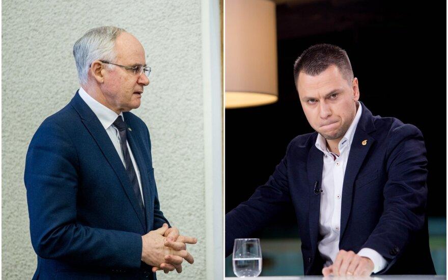 Algirdas Monkevičius (kairėje), Edgaras Stankevičius