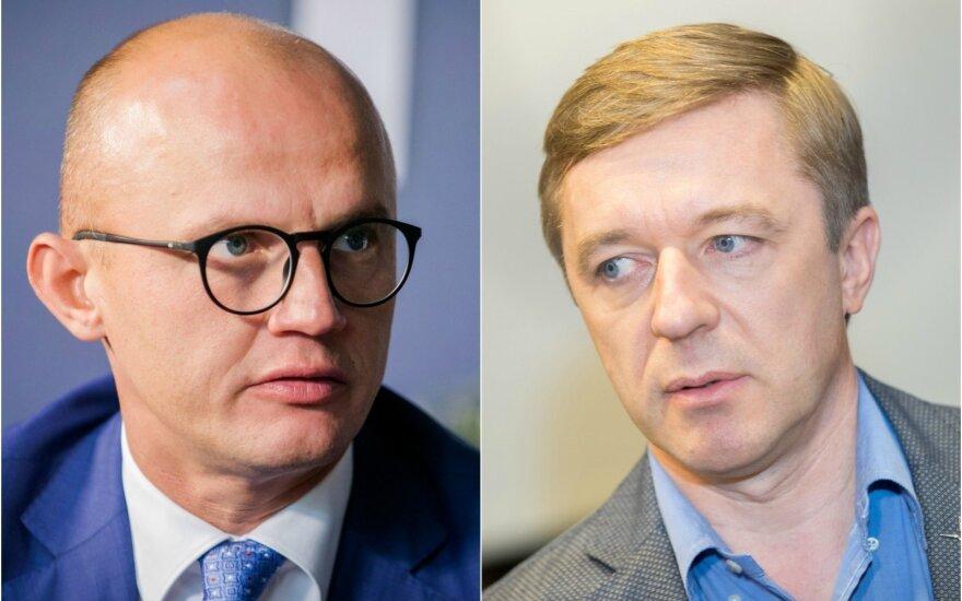 Edmundas Jakilaitis ir Ramūnas Karbauskis