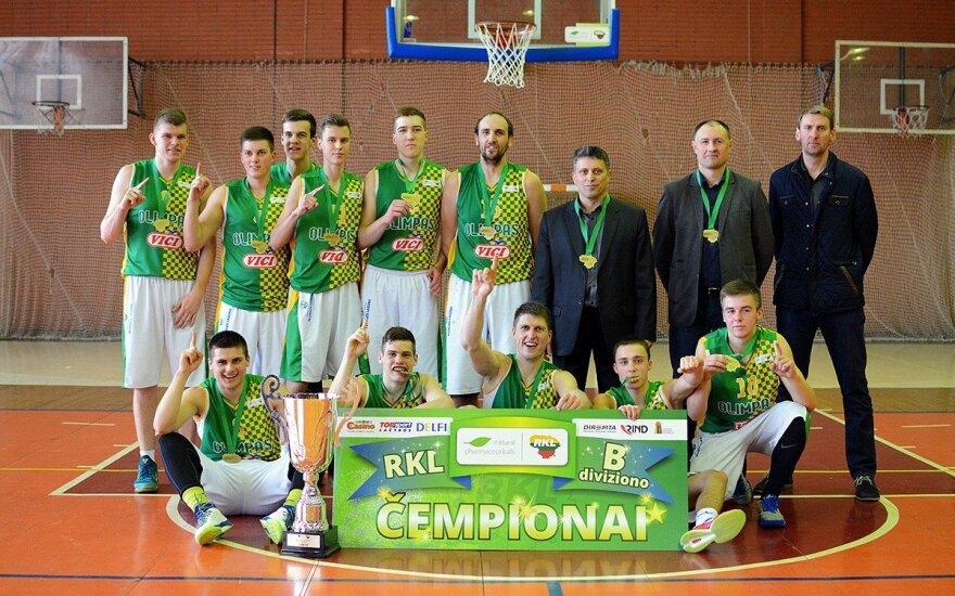 Plungės krepšininkai laimėjo RKL B diviziono čempionatą (L. Šilkaičio nuotr.)
