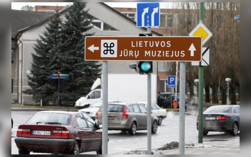 Informaciniai ženklai Klaipėdos gatvėse