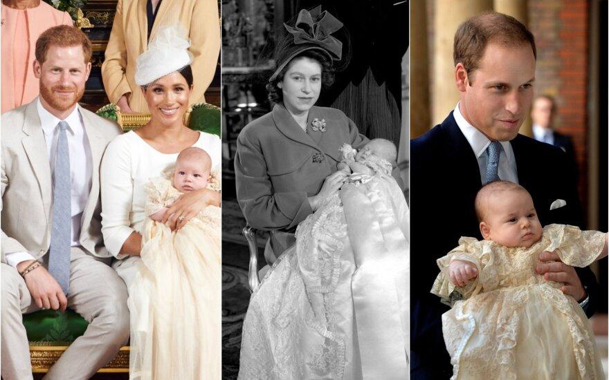 Archie krikštynos, princo Charleso krikštas ir princo George'o krikštas