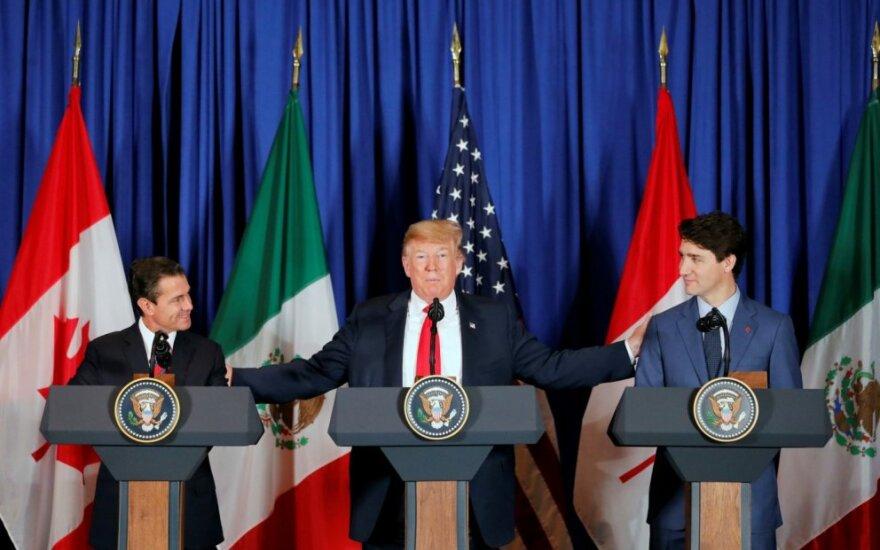 JAV, Meksika ir Kanada pasirašė naują laisvosios prekybos sutartį