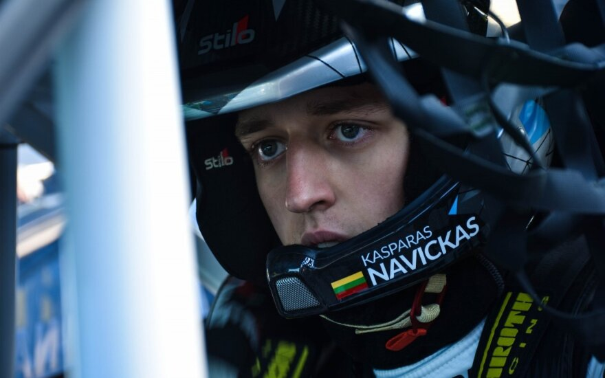 K. Navicko pasirodymas Prancūzijos ralio kroso čempionato etape baigėsi avarija