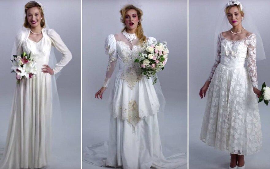 Vestuvinių suknelių mada: kas pasikeitė per 100 metų?