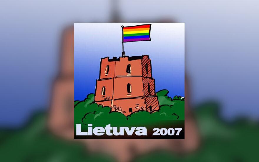 Gėjų ir lesbiečių suvažiavimas - karikatūra