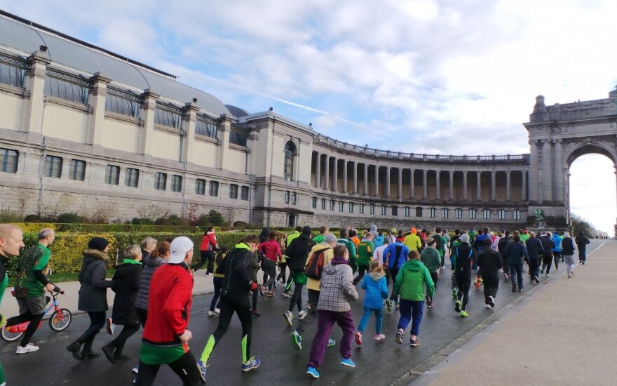 Brussels January 13 tribute run draws EU and NATO reps in large numbers