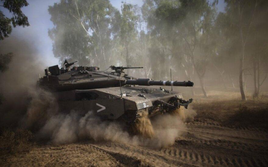 Gazos ruože – Izraelio tankai