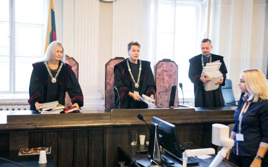 Dėl teisėjų atleidimo tvarkos Seimas spręs birželį