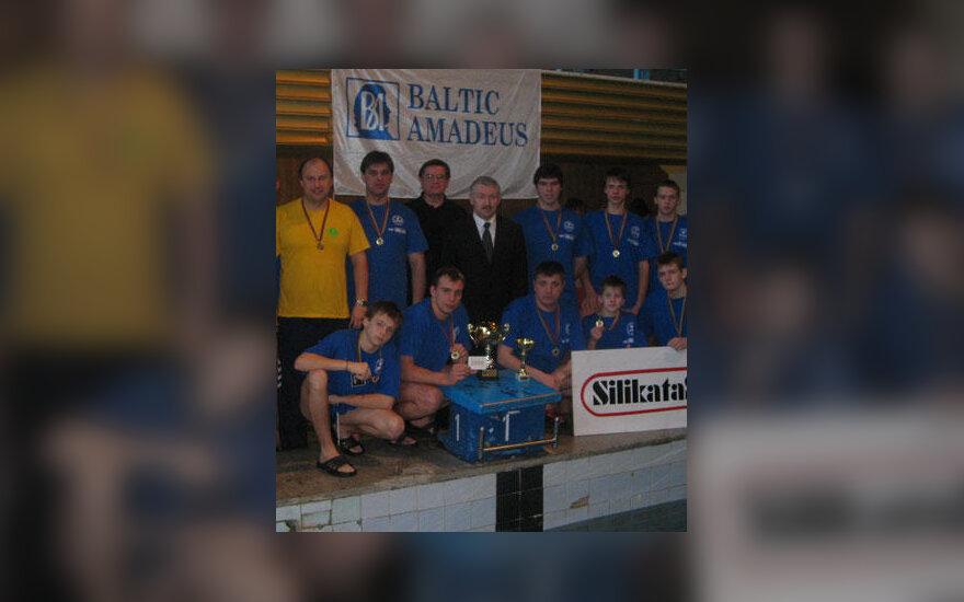 """Lietuvos taurės varžybų nugalėtojai - """"Baltic Amadeus"""" vandensvydininkai"""