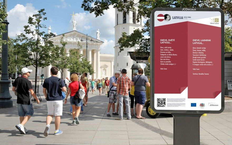 Poetry project in Vilnius commemorates 25 years of diplomatic relations between Lithania and EU member states