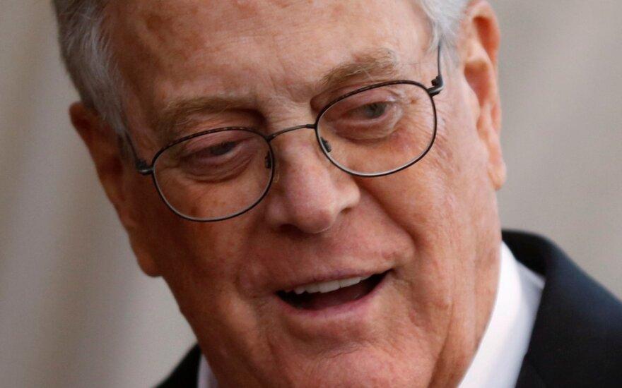 Mirė vienas turtingiausių amerikiečių Davidas Kochas