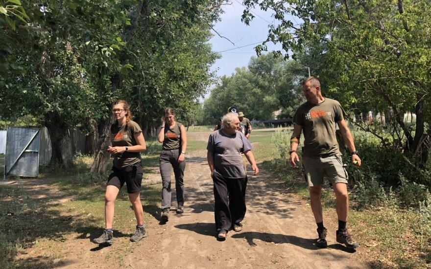 """Misija Sibiras"" komanda lanko Pastornajos miestelį"