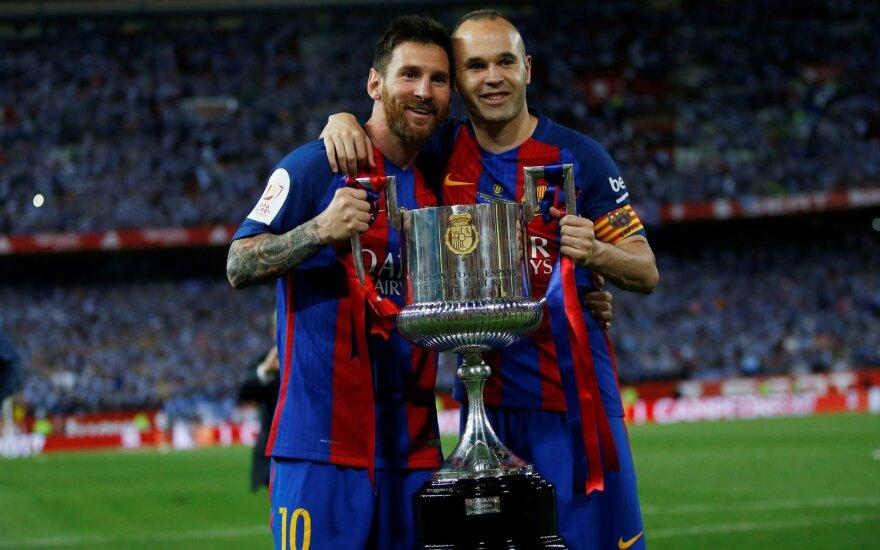 Lionelis Messi ir Andresas Iniesta